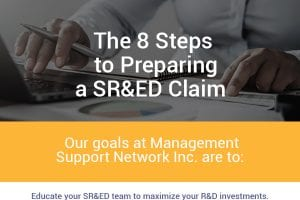 The 8 Steps to Preparing a SR&ED Claim [infographic]